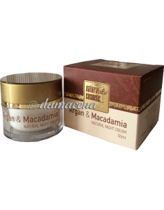 "Crème de nuit ""Natural Cosmetic"" Argan Macadamia"